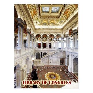 Gran pasillo, Biblioteca del Congreso, Washington, Postal