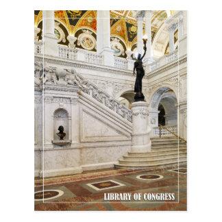 Gran pasillo, Biblioteca del Congreso, Washington, Tarjeta Postal