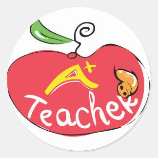gran pegatina de la manzana del profesor