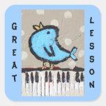 gran pegatina del estudiante del piano de la lecci