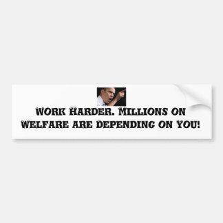 Gran pegatina para el parachoques de anti-obama pegatina para auto