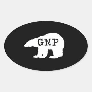 Gran pegatina redondo septentrional de Prepper