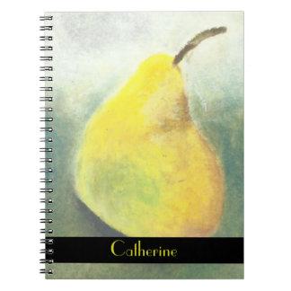 Gran pera amarilla grande personalizada libros de apuntes con espiral