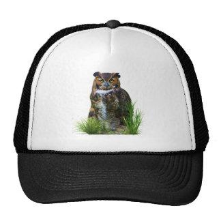 Gran personalizable del búho de cuernos gorras