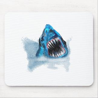 Gran pintura del ataque del tiburón blanco alfombrilla de raton