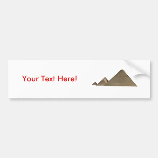 Gran pirámide de Giza: Etiqueta De Parachoque