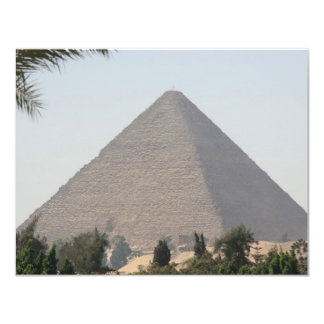 """Gran pirámide de Giza Invitación 4.25"""" X 5.5"""""""