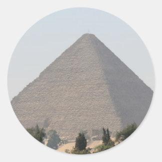 Gran pirámide de Giza Pegatina Redonda