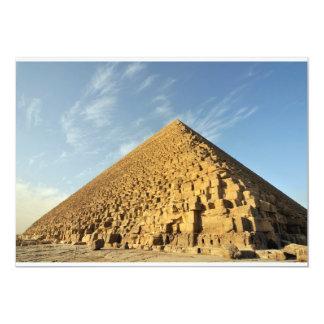 """Gran pirámide de Khufu (Cheops), Giza, Egipto Invitación 5"""" X 7"""""""
