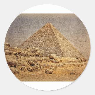 Gran pirámide de Khufu Etiqueta Redonda