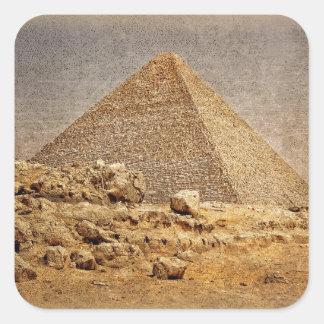 Gran pirámide de Khufu Calcomanía Cuadrada