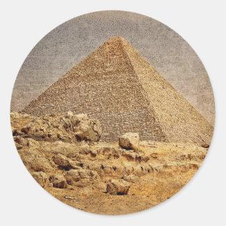 Gran pirámide de Khufu Pegatina Redonda