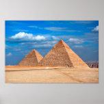 Gran pirámide Khufu y Cheops Poster