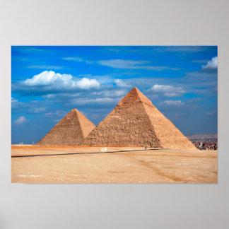 Gran pirámide Khufu y Cheops Póster