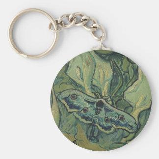 Gran polilla del pavo real de Vincent van Gogh Llavero Redondo Tipo Pin
