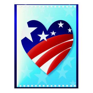 Gran postal americana del corazón