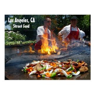 ¡Gran postal de la comida de la calle de Los