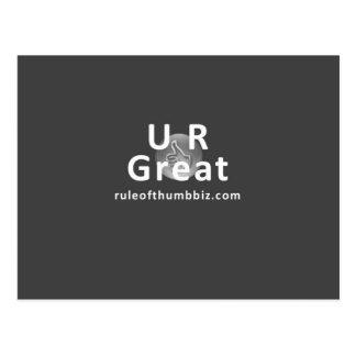 Gran postal de U R
