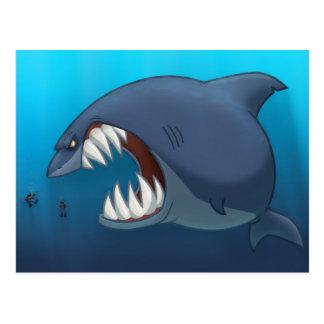 Gran postal del tiburón blanco