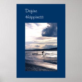 Gran poster de la felicidad de la foto de las póster