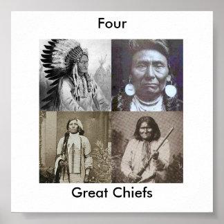 Gran poster de los jefes indios