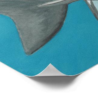 Gran poster del tiburón blanco