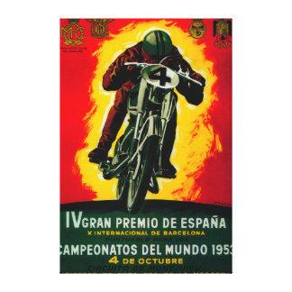 Gran Premio de Espana Vintage PosterEurope Canvas Print