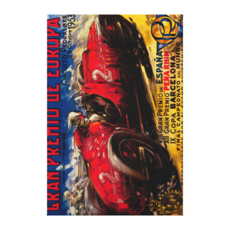 Gran Premio De Europa Vintage PosterEurope Canvas Print