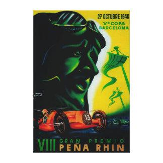 Gran Premio Pena Rhin Vintage PosterEurope Canvas Print