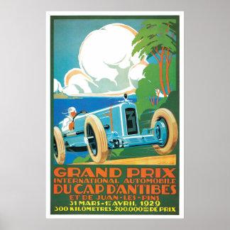 Gran Prix Automobile Vintage Ad Art Posters