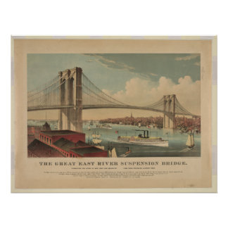 Gran puente colgante de East River - Nueva York Impresiones