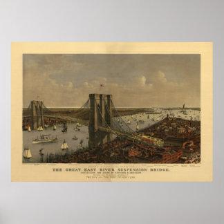 Gran puente colgante de East River Impresiones