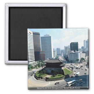 Gran puerta del sur (Sungyemun), Seul, Corea del Imán Cuadrado