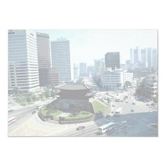 """Gran puerta del sur (Sungyemun), Seul, Corea del Invitación 5"""" X 7"""""""