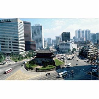 Gran puerta del sur (Sungyemun), Seul, Corea del S Escultura Fotográfica