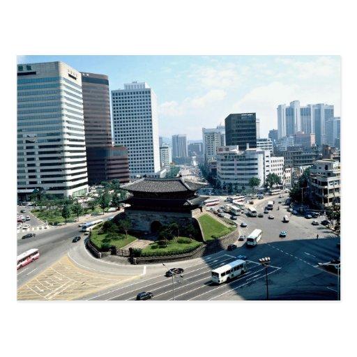 Gran puerta del sur (Sungyemun), Seul, Corea del Tarjetas Postales