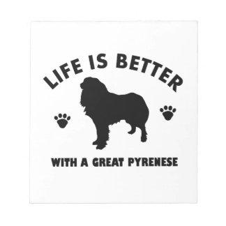 gran-pyrenese diseño del perro blocs