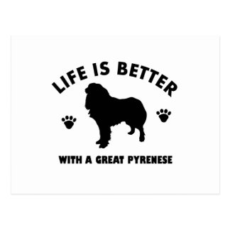 gran-pyrenese diseño del perro tarjetas postales