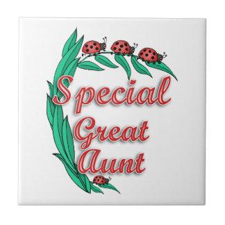 Gran regalo especial del día de la tía madre azulejo cuadrado pequeño