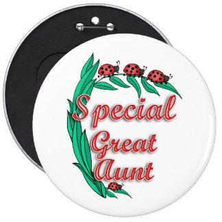 Gran regalo especial del día de la tía madre pin redondo 15 cm