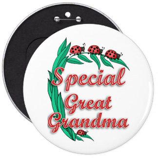 Gran regalo especial del día de madre de la abuela pin redondo 15 cm
