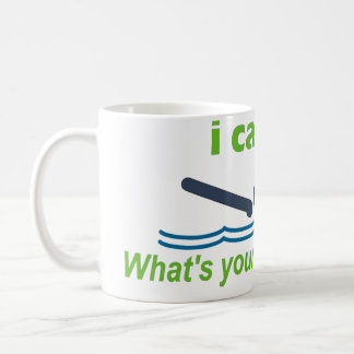 ¡Gran regalo para el nadador del movimiento de mar Taza Básica Blanca