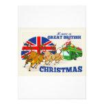 Gran reno británico Doube Decke de Santa del navid Anuncio Personalizado