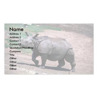Gran rinoceronte Uno-De cuernos indio Tarjeta De Visita