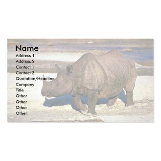 Gran rinoceronte Uno-De cuernos indio Plantillas De Tarjetas Personales