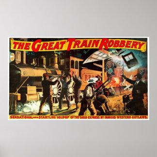 Gran robo del tren - impresión póster