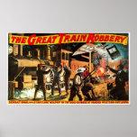 Gran robo del tren - impresión posters