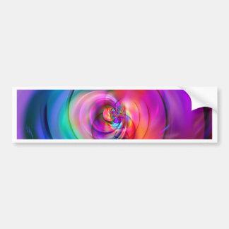 Gran rosa del remolino creado por Tutti Pegatina Para Auto