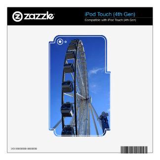 Gran rueda de la montaña ahumada calcomanía para iPod touch 4G