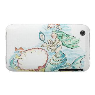 gran selección que lleva de la sirena Verde-haired Case-Mate iPhone 3 Funda